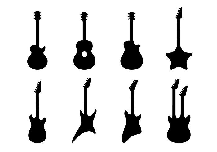 Freier Gitarren-Vektor vektor