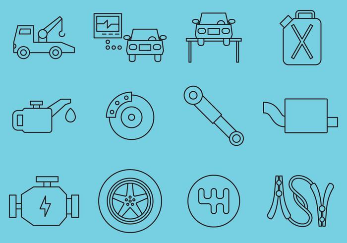Auto-Wartungs-Icons vektor