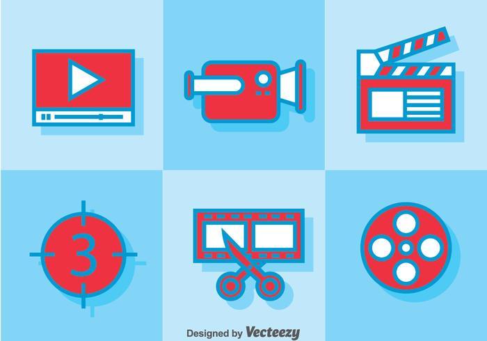 Videobearbeitung von Icons vektor