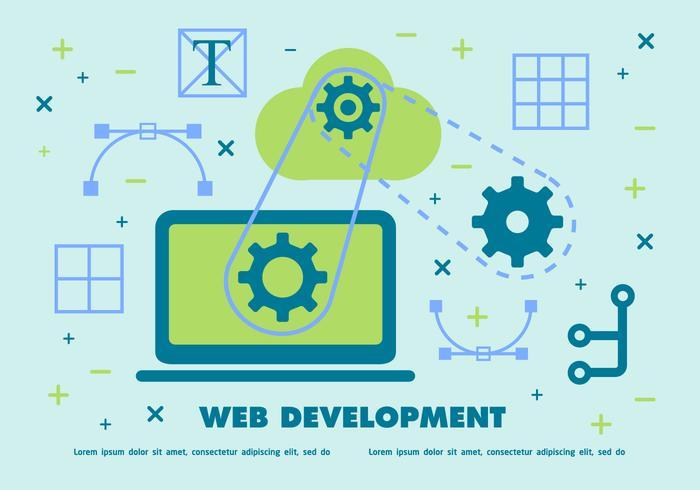 Gratis webbutveckling vektor bakgrund