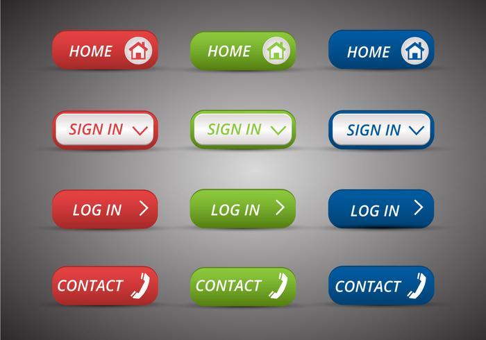 Free Web Buttons Set 14 Vektor