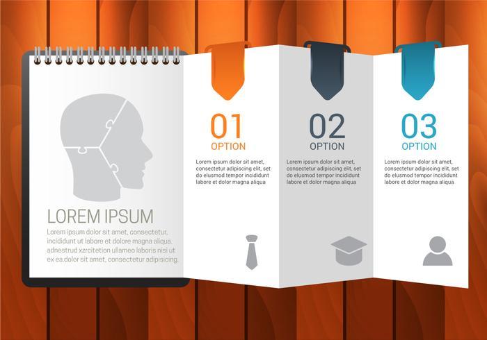 Kostenlose Agenda Infografiken Vektor