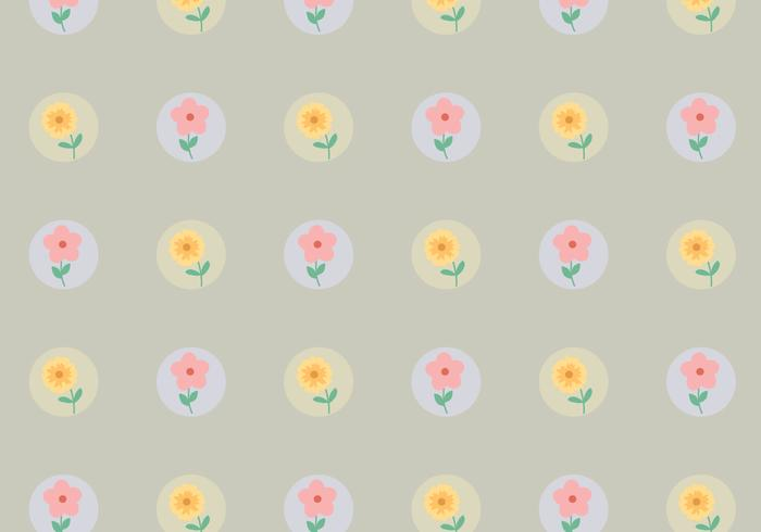 Vintages punktiertes Blumenmuster vektor