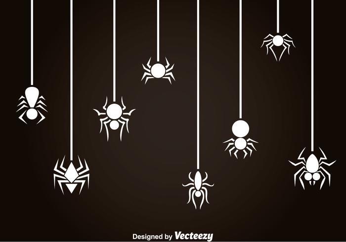 Weiße Spinne Und Tarantula Vektor
