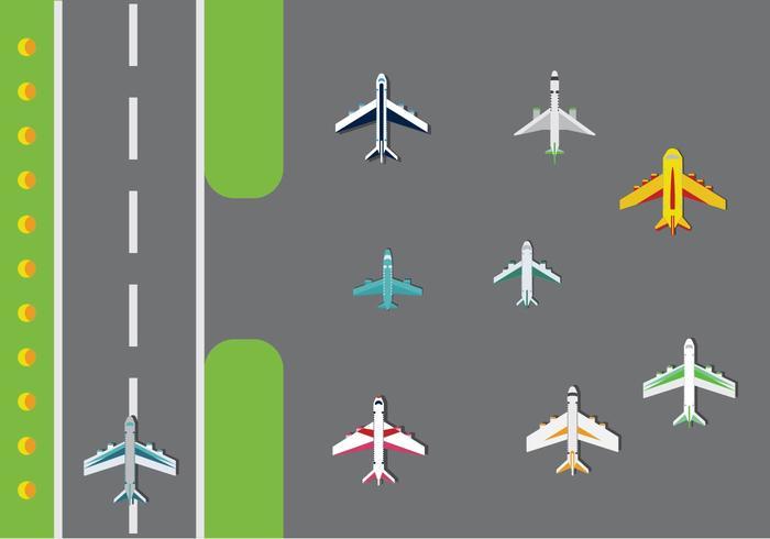 Gratis flygplan vektorpaket vektor