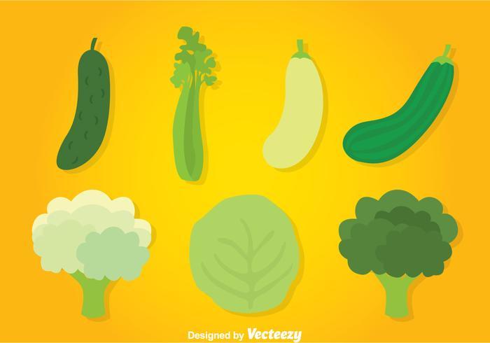 Grönsaker Samlingsvektor vektor