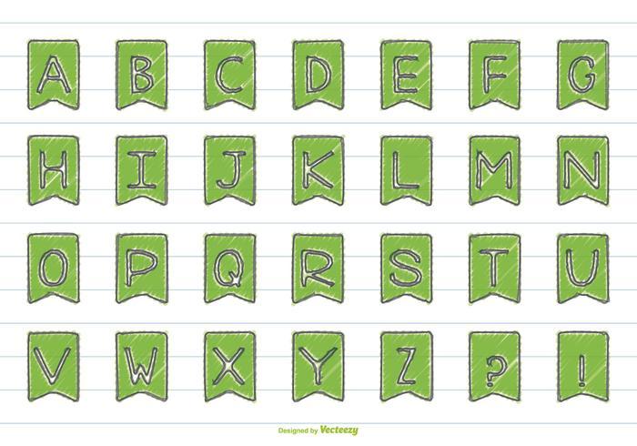 Nettes Handgezeichnetes Art-Alphabet-Set vektor