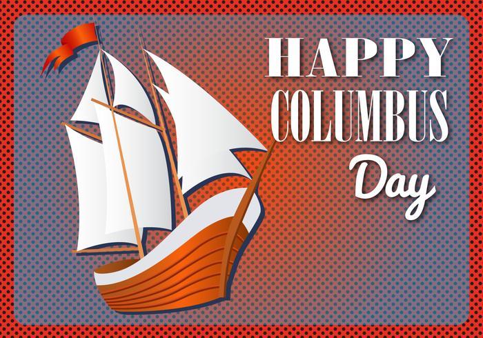 Kostenlose Happy Columbus Day Vector