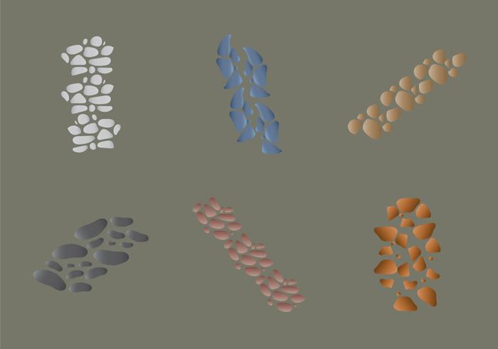 Free Stone Path Vektor-Illustration vektor