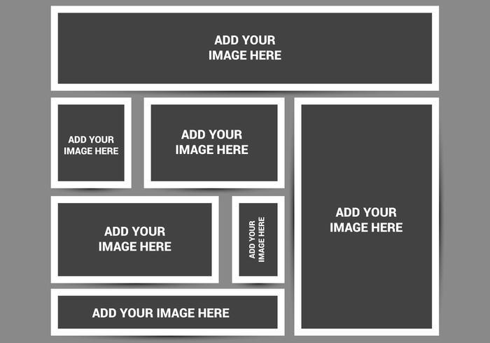 Freier leerer Foto-Rahmen-Vektor vektor