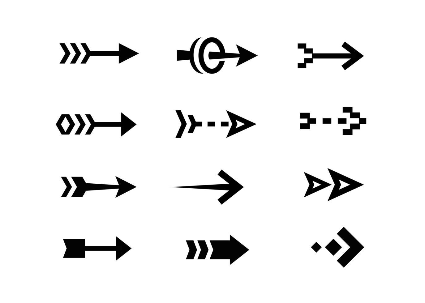 pilikoner platt design samling vektor