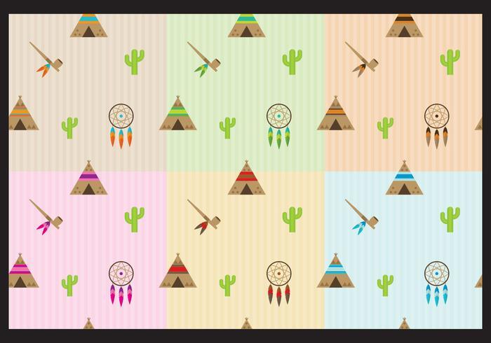 Native american patterns vektor