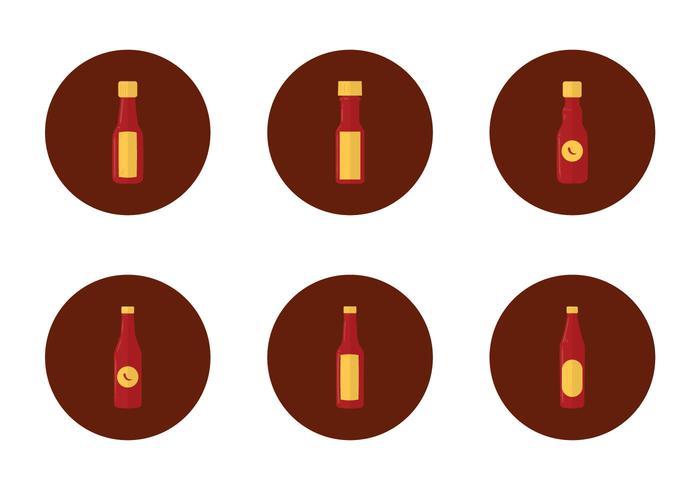 Free Hot Sauce Flasche Icon vektor