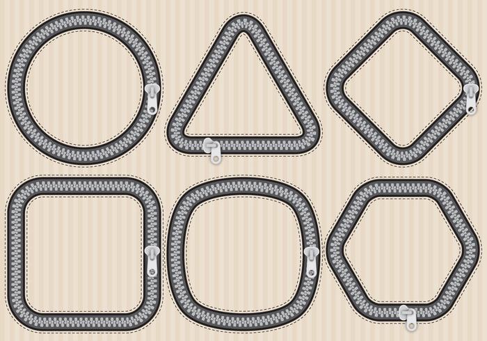 Zipper Formen vektor