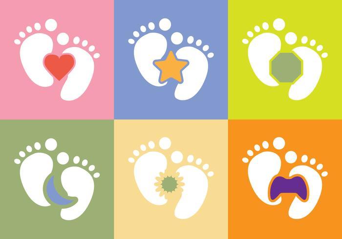 Freier Baby-Fuß-Vektor vektor