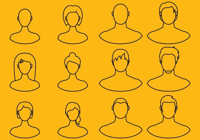 Frauen und Männer Line Icons vektor