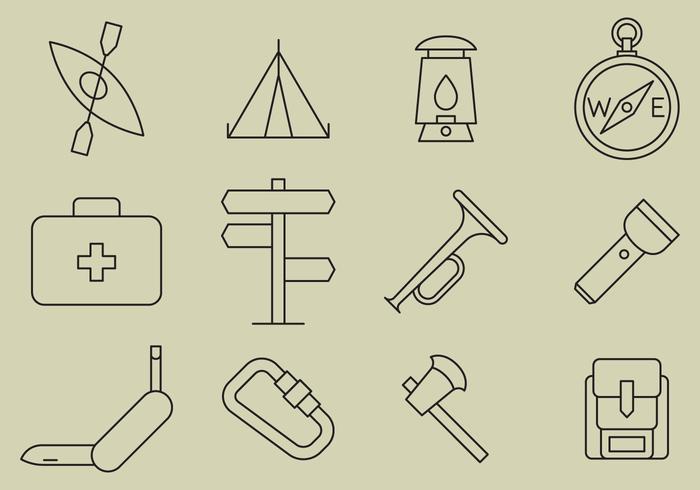 Boyscout line Symbole vektor