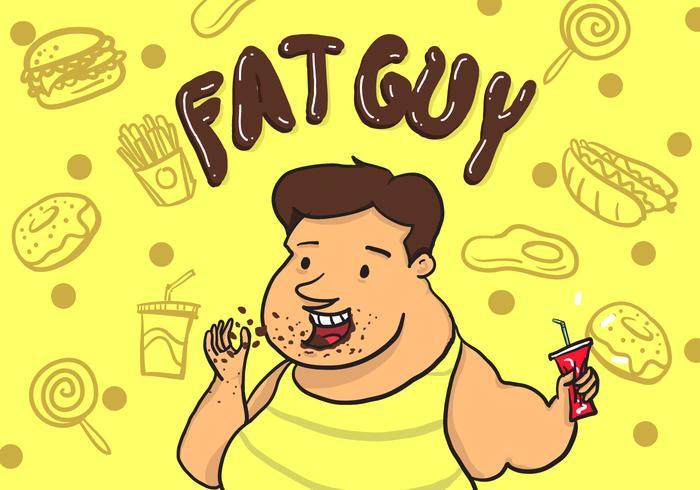 Fat Guy Vektor