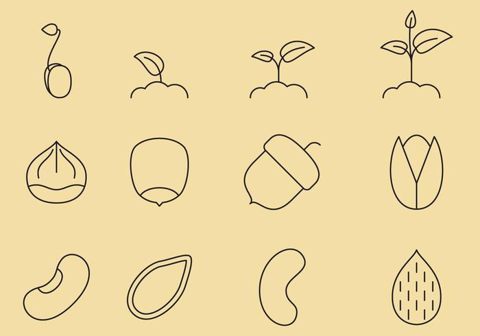 Samenlinie Symbole vektor
