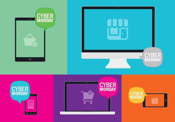 Cyber Monday Geräte vektor