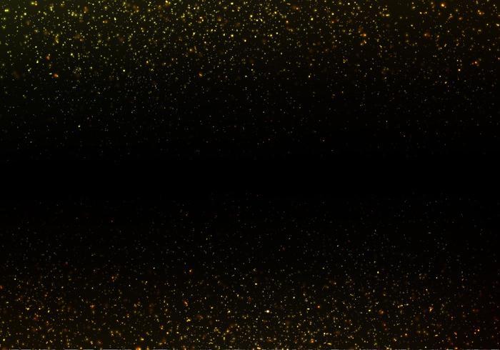 Gratis Strass Vector, Guld Glitter Texture På Svart Bakgrund vektor