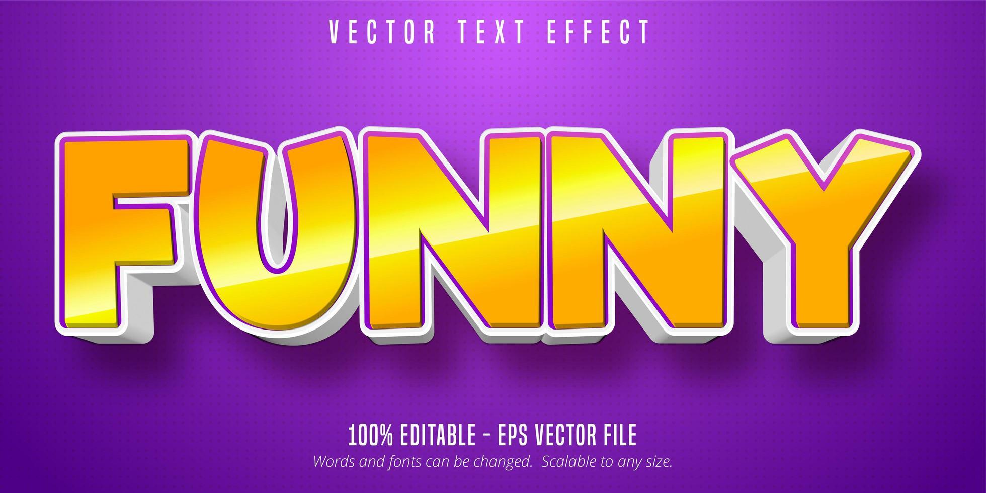 rolig djärv glansig gul texteffekt vektor