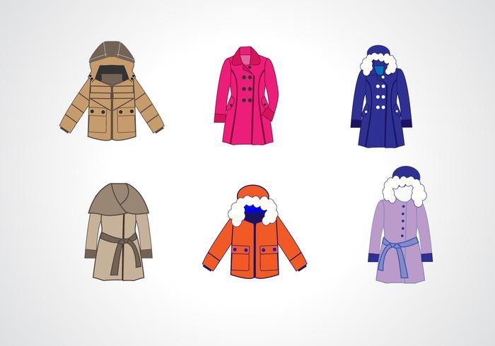 Wintermantel Sammlung Vektor