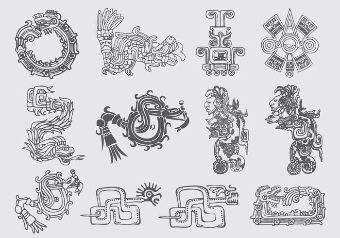 Quetzalcoatl Illustrationen vektor