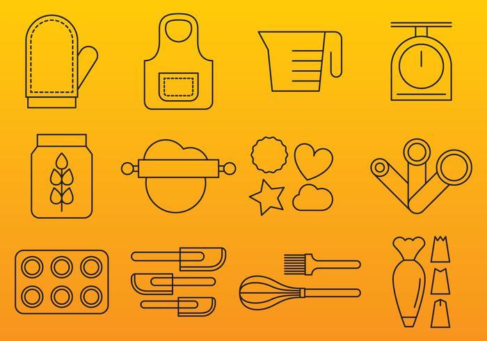 Bakery line Icons vektor