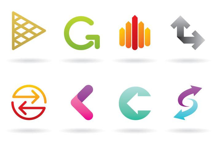 Pfeil-Logos vektor