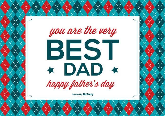 Glückliche Vatertags-Illustration vektor