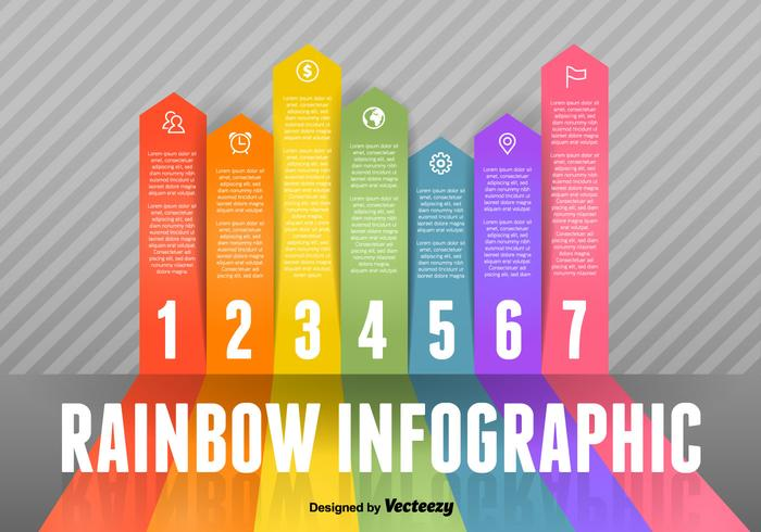 Regenbogen Infografische Vektor-Elemente vektor