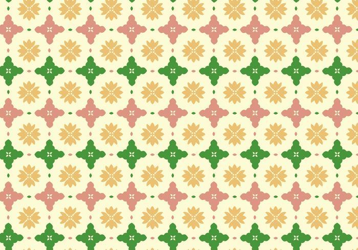 Floral Fliesenmuster Hintergrund vektor