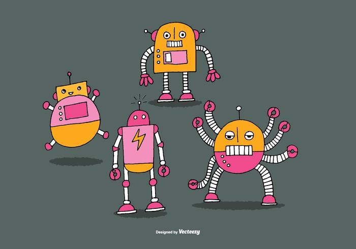 Nette Roboter Vektoren
