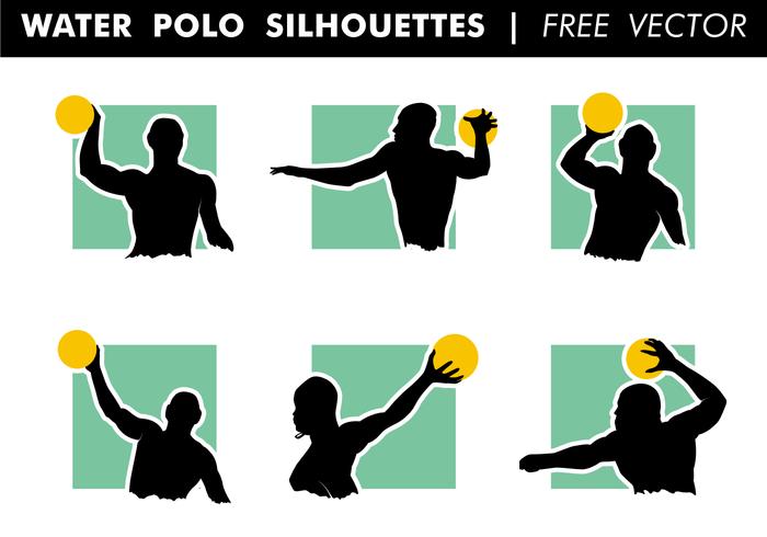 Wasser Polo Silhouetten Free Vector