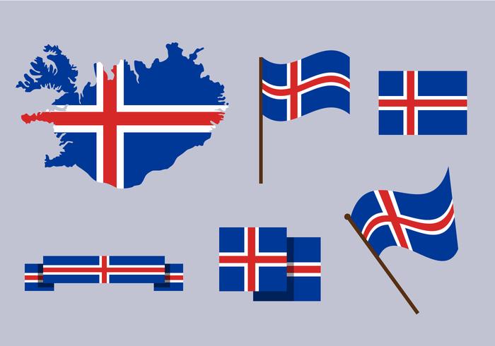 Freie Iceland Karte Vektor