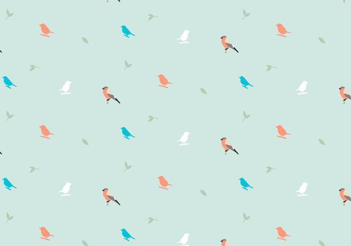 Vögel Pastellmuster vektor