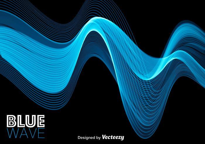 Blaue abstrakte moderne Welle vektor