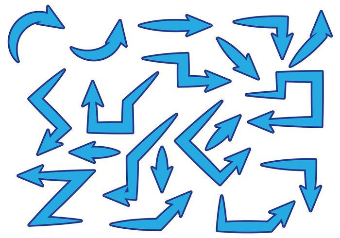 Gratis Blue Flechas Vector