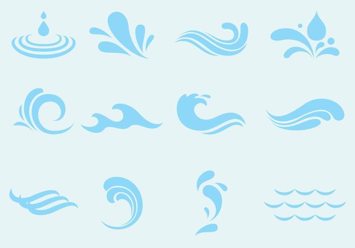 Vector Agua Wave Und Splash Icons