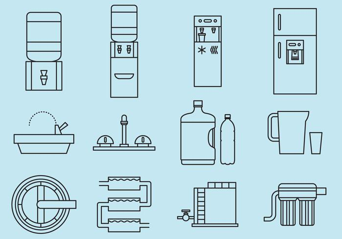 Trinkwasser Icons vektor