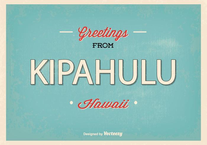 Kipahulu Hawaii Retro Gruß Illustration vektor