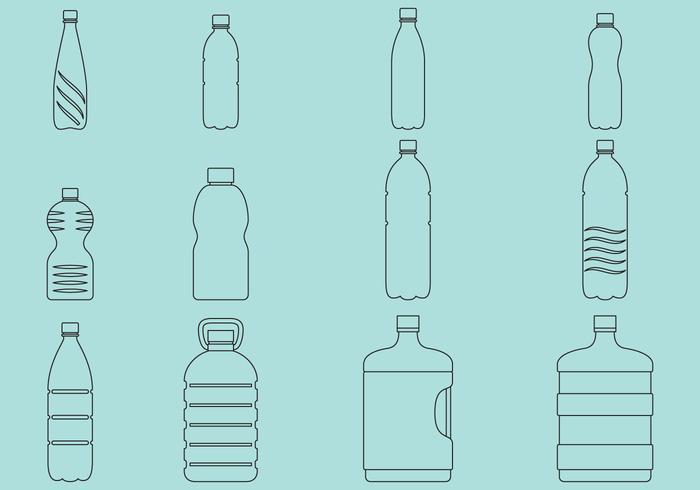 Vattenflaskor Ikoner vektor