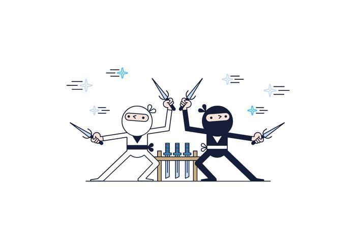 Kostenlose Ninjas Vektor