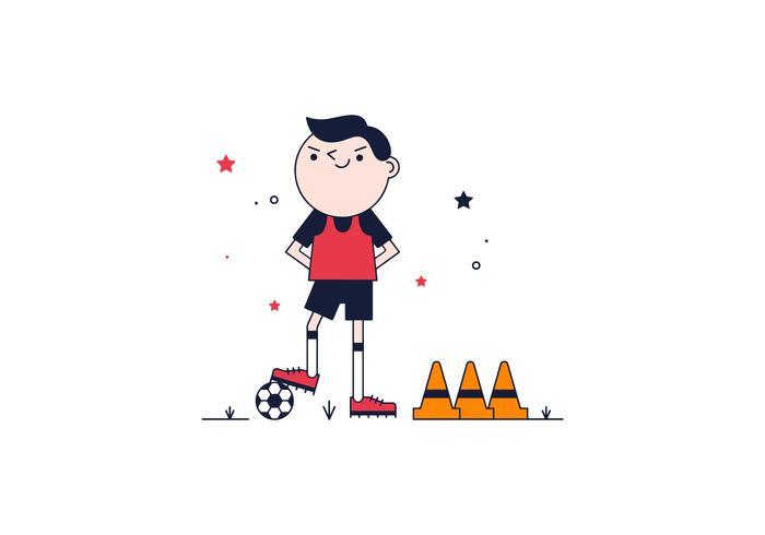 Gratis Soccer Player Vector