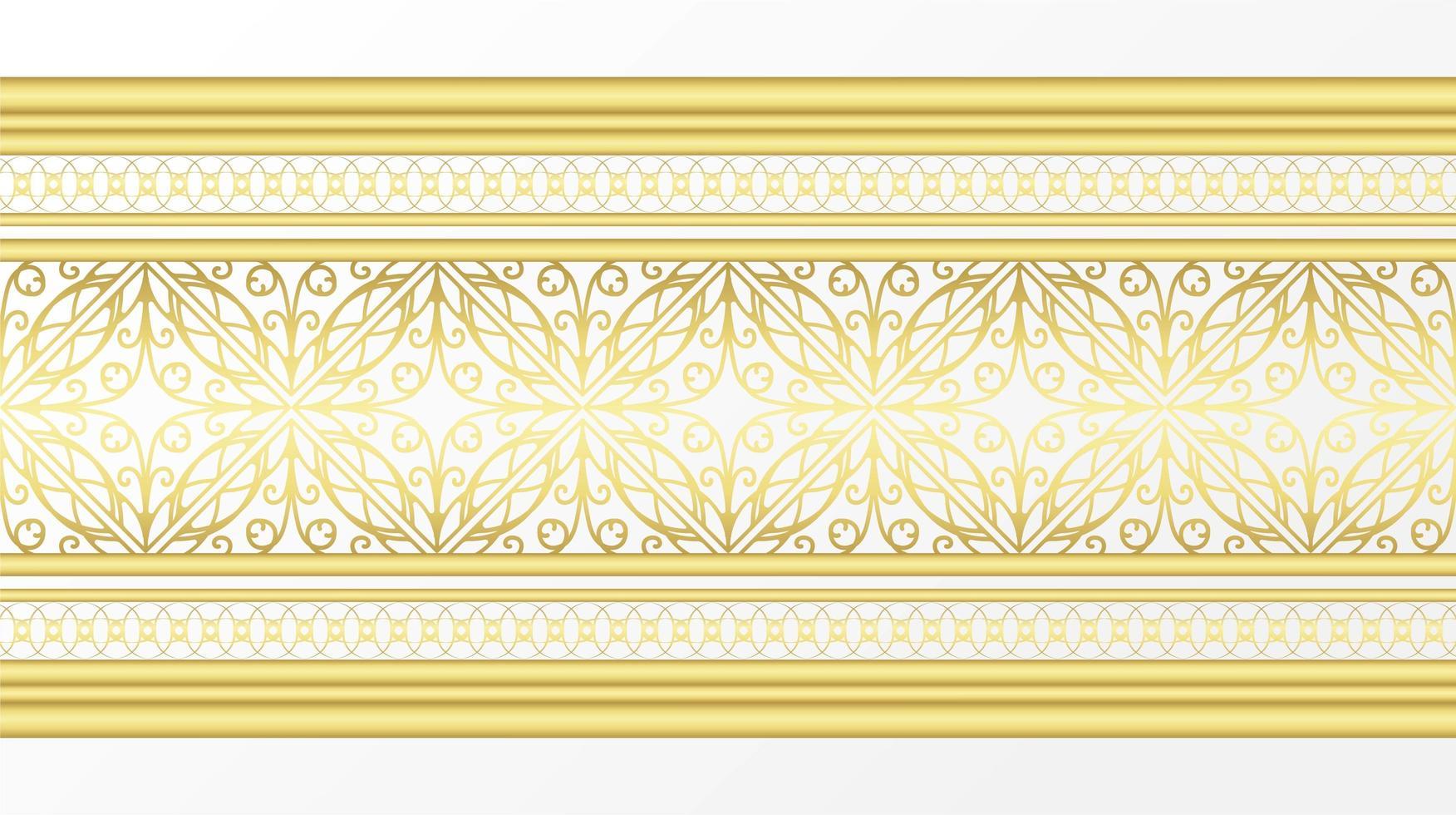 goldener Zierrand vektor