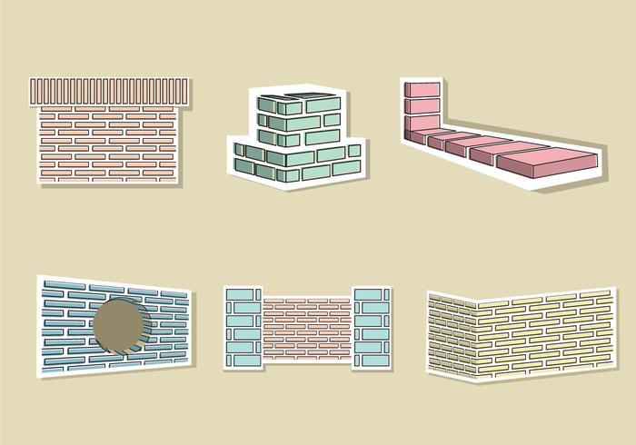 Ziegel Layer Illustration Vektor