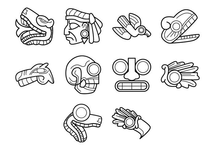 Aztec symbolvektor vektor