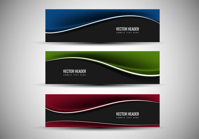 Free Vector Bunte Header