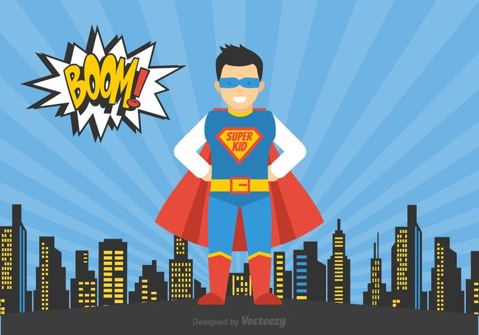 Free Vector Superheld Kid